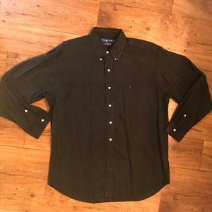 Ralph Lauren Blake Men's L Silk Blend Button Down